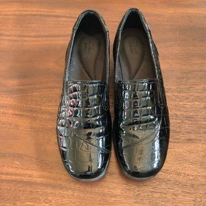 Clark's Faux Alligator Patent Leather Loafers
